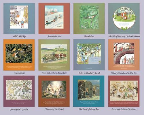 Elsa Beskow 2018 Calendar via waldorfbooks.com